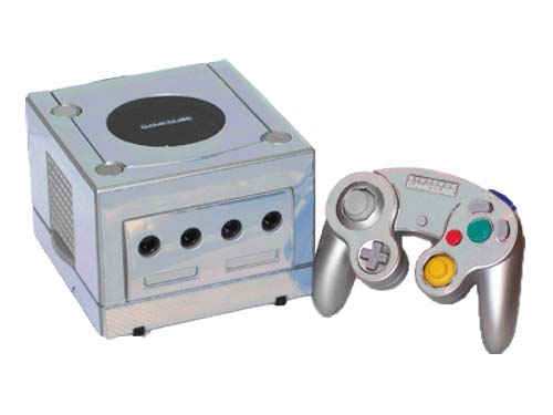 Gamecube Silver silver chrome nintendo gamecube gaming console skin ...