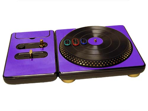DJ Hero for the PS2, PS3, and 360 Skin :: Purple Chrome