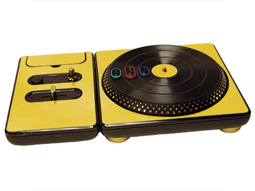 DJ Hero for the PS2, PS3, and 360 Skin :: Gold Chrome