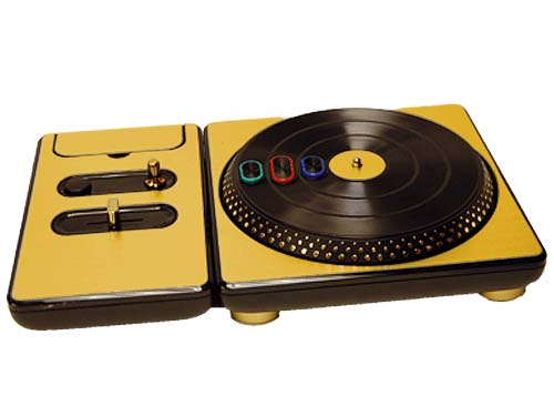 DJ Hero for the PS2, PS3, and 360 Skin :: Brushed Gold