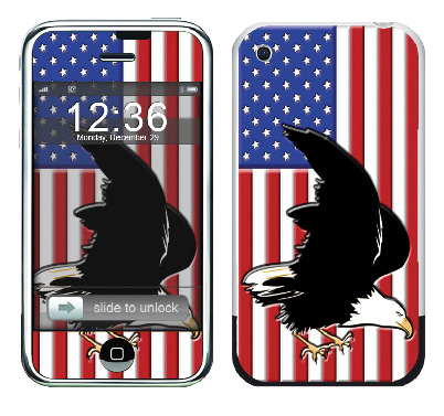 Apple iPhone Skin :: American Flag 2