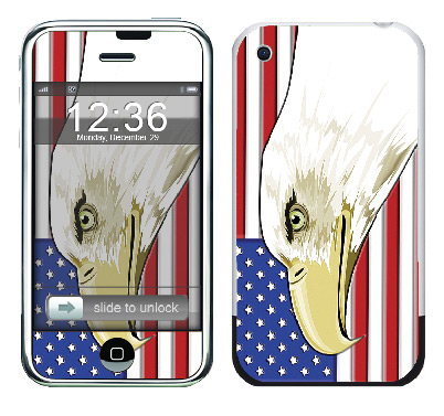 Apple iPhone Skin :: American Flag 3