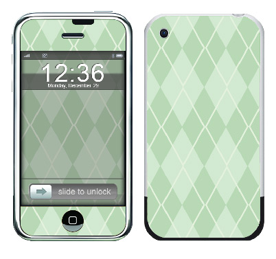 Apple iPhone Skin :: Argyle Green