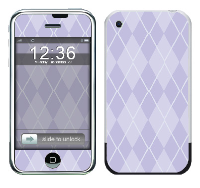 Apple iPhone Skin :: Argyle Purple