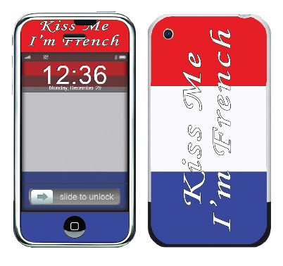 Apple iPhone Skin :: Kiss Me French