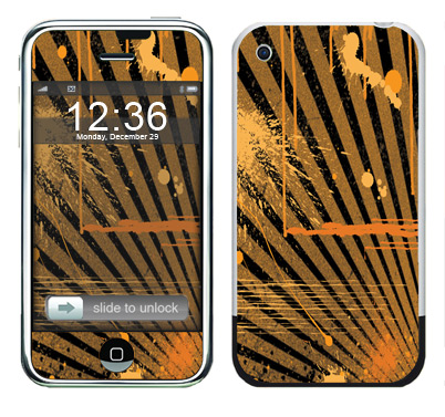 Apple iPhone Skin :: Splatter Orange