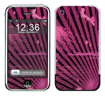 Apple iPhone Skin :: Splatter Pink