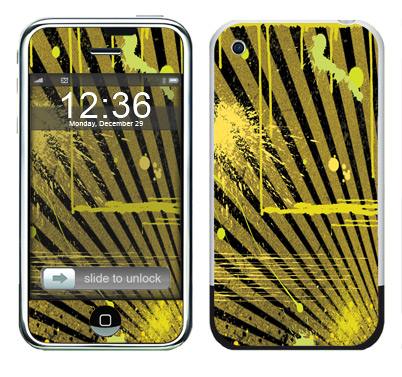 Apple iPhone Skin :: Splatter Yellow