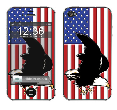 Apple iPhone 4 Skin :: American Flag 2