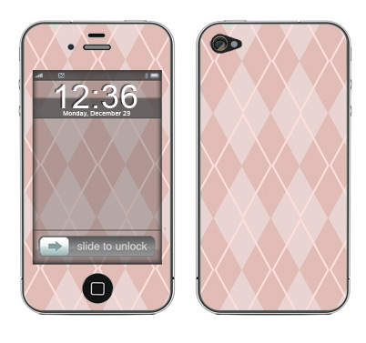 Apple iPhone 4 Skin :: Argyle Red