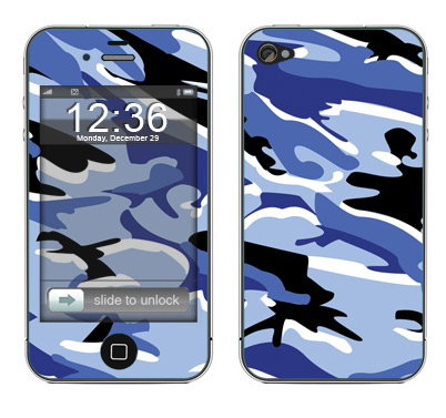 Apple iPhone 4 Skin :: Camo Blue