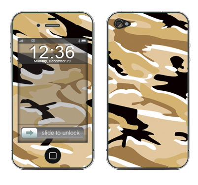 Apple iPhone 4 Skin :: Camo Desert