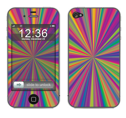 Apple iPhone 4 Skin :: Color Blast