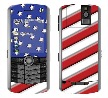 BlackBerry Pearl 8100 Skin :: American Flag 1
