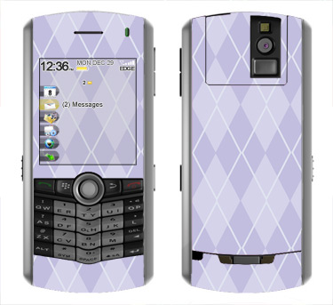 BlackBerry Pearl 8100 Skin :: Argyle Purple