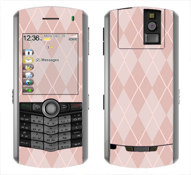 BlackBerry Pearl 8100 Skin :: Argyle Red