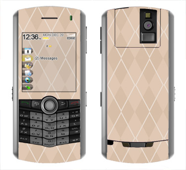 BlackBerry Pearl 8100 Skin :: Argyle Tan