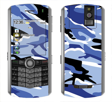BlackBerry Pearl 8100 Skin :: Camo Blue
