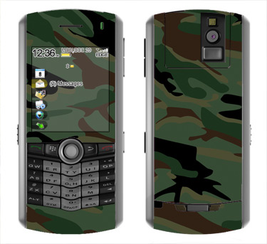BlackBerry Pearl 8100 Skin :: Camo Green
