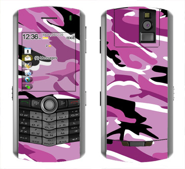 BlackBerry Pearl 8100 Skin :: Camo Pink