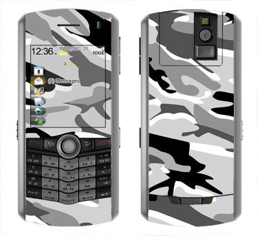 BlackBerry Pearl 8100 Skin :: Camo Snow