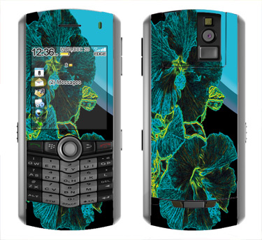 BlackBerry Pearl 8100 Skin :: Cosmic Flowers 2