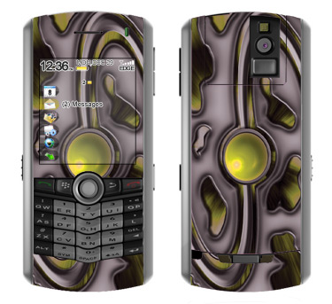 BlackBerry Pearl 8100 Skin :: Cynic Yellow
