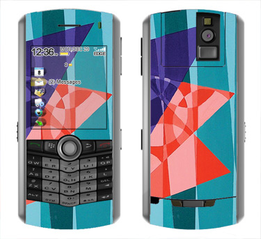 BlackBerry Pearl 8100 Skin :: Geometric Blast