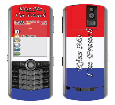 BlackBerry Pearl 8100 Skin :: Kiss Me French