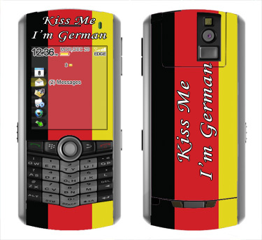 BlackBerry Pearl 8100 Skin :: Kiss Me German