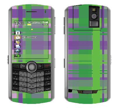 BlackBerry Pearl 8100 Skin :: Punk Rock Plaid