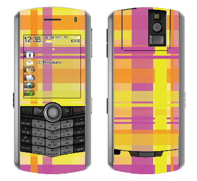 BlackBerry Pearl 8100 Skin :: Sun Kissed Plaid