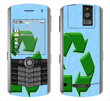 BlackBerry Pearl 8100 Skin :: Recycle