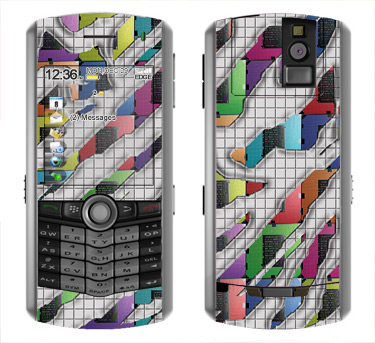 BlackBerry Pearl 8100 Skin :: Shredded Circuit