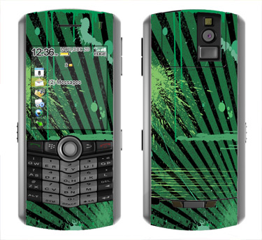 BlackBerry Pearl 8100 Skin :: Splatter Green