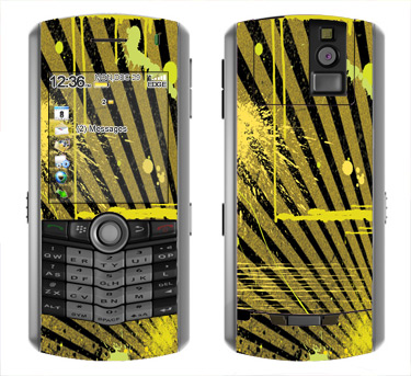 BlackBerry Pearl 8100 Skin :: Splatter Yellow