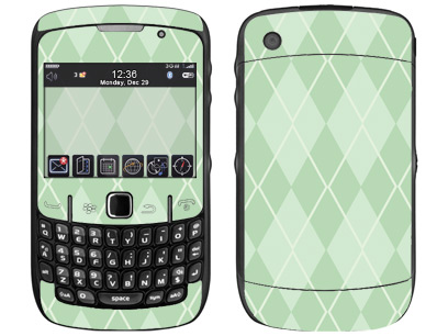 BlackBerry Curve 8520, 8530 Skin :: Argyle Green