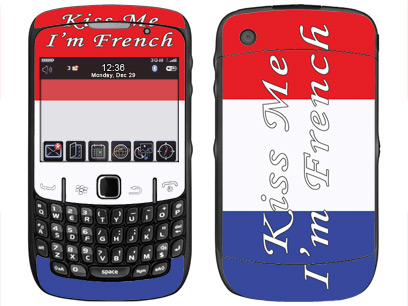 BlackBerry Curve 8520, 8530 Skin :: Kiss Me French