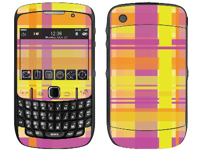 BlackBerry Curve 8520, 8530 Skin :: Sun Kissed Plaid