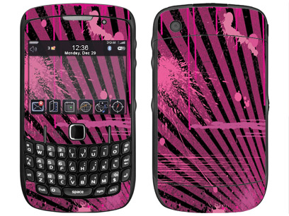 BlackBerry Curve 8520, 8530 Skin :: Splatter Pink