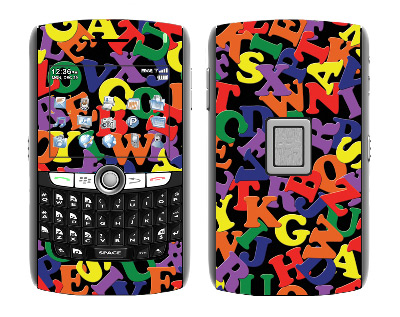 BlackBerry World 8800 Skin :: Alphabet Soup