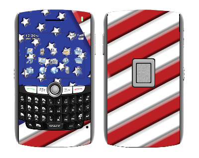 BlackBerry World 8800 Skin :: American Flag 1
