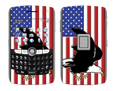 BlackBerry World 8800 Skin :: American Flag 2