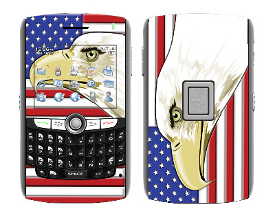 BlackBerry World 8800 Skin :: American Flag 3