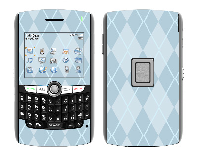 BlackBerry World 8800 Skin :: Argyle Blue
