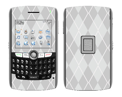 BlackBerry World 8800 Skin :: Argyle Gray