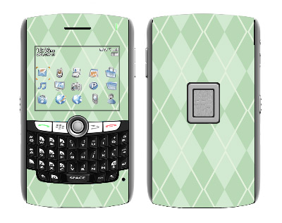 BlackBerry World 8800 Skin :: Argyle Green