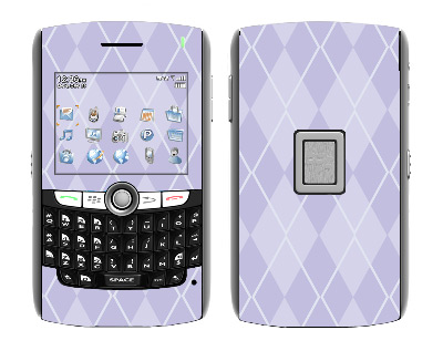 BlackBerry World 8800 Skin :: Argyle Purple