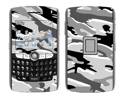 BlackBerry World 8800 Skin :: Camo Snow
