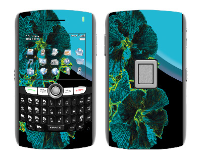 BlackBerry World 8800 Skin :: Cosmic Flowers 2